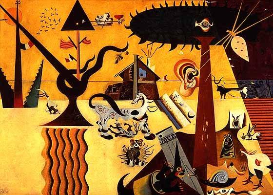 Joan Miró, The Tilled Field, olej na płótnie, 1923–1924. http://www.wikipaintings.org/en/joan-miro/the-tilled-field-1924