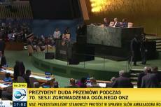 Przed przemówieniem Andrzeja Dudy