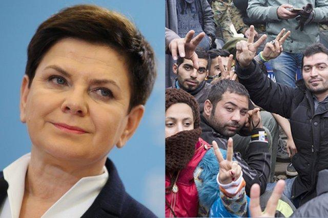 Beata Szydło mówi że rząd nie przyjmie ani jednego uchodźcy czy imigranta, ale urzędnicy robią swoje i przyjmują.
