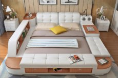 To łóżko to sen wszystkich, którzy kochają się relaksować. Schowacie tu ukochane książki, obejrzycie seriale i posłuchacie muzyki. Jest tak wygodnie, że można tam spędzać całe dnie