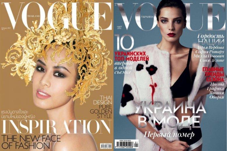 Premierowe wydania magazynu Vogue w Tajlandii i na Ukrainie