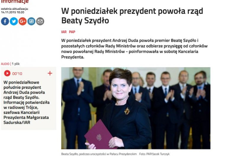 Polskie Radio w sobotę podmieniło zdjęcie, wstawiono oryginalne autorstwa Jacka Turczyka z PAP