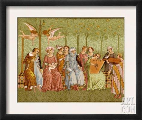 Zachwyt nad tym dziełem Orcagnii zapoczątkował ruch Prerafaelitów.