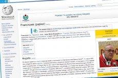 Wikipedia ocenzurowała życiorys papieża Franciszka I przed Polakami?