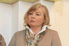 """Maria Ochman, przewodnicząca Krajowego Sekretariatu Ochrony Zdrowia NSZZ """"Solidarność"""" ."""