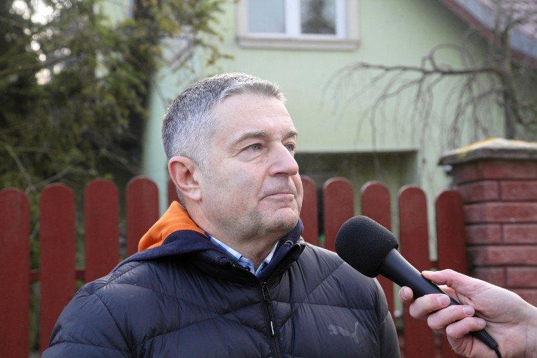 Władysław Frasyniuk po przesłuchaniu.