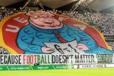 Legia Warszawa została ukarana za oprawę krytykującą UEFA.