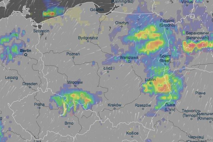 W środę 7 sierpnia będzie upalnie w całym kraju. W wielu miejscach Polski będzie grzmieć, spodziewane są też przelotne opady.
