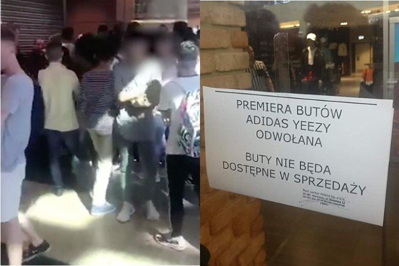 Tzw. drop z butami Yeezy w Warszawie został odwołany z powodu naporu chętnych.
