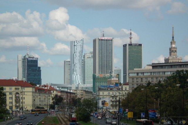 Widok na Warszawę.