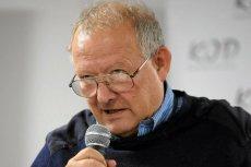 """Adam Michnik prowadził spotkanie w ramach """"Gdańskich debat obywatelskich"""", dotyczących analizy odzyskania przez Polskę niepodległości w 1918 roku i transformacji ustrojowej w 1989 r."""