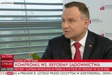 Prezydent Andrzej Duda udzielił wywiadu TVP Info
