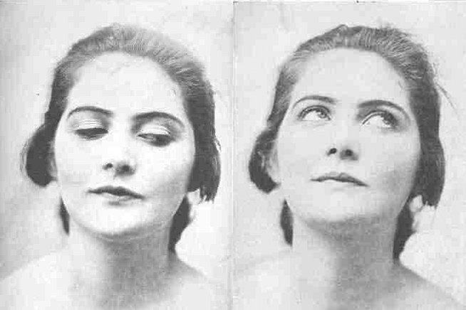 """Zdjęcia z książki Williama Batesa """"Perfect Sight Without Glasses"""" (idealny wzrok bez okularów)"""