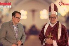 Kandydat Lewicy przebiera się za księdza i w swoim spocie proponuje rozdział państwa od kościoła
