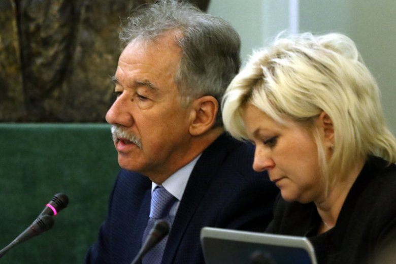 Wojciech Hermeliński, przewodniczący PKW i Beata Tokaj, była szefowa KBW, a obecnie doradca PKW