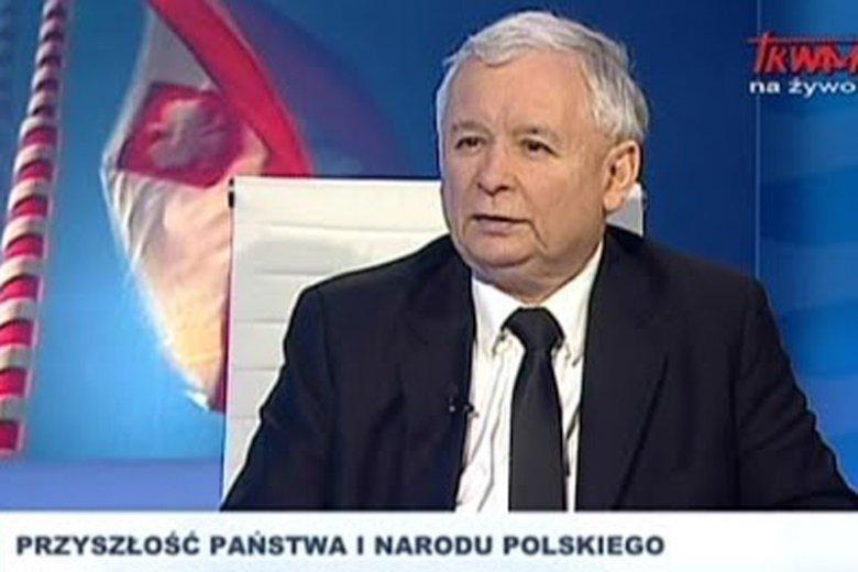 """Dziś gościem programu """"rozmowy niedokończone"""" był Jarosław Kaczyński."""