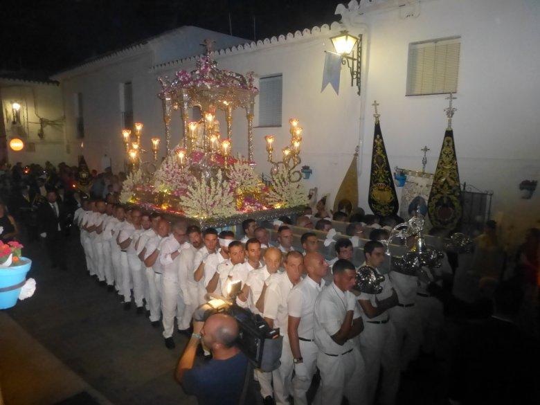 Procesja z okazji święta patronki Mijas Pueblo