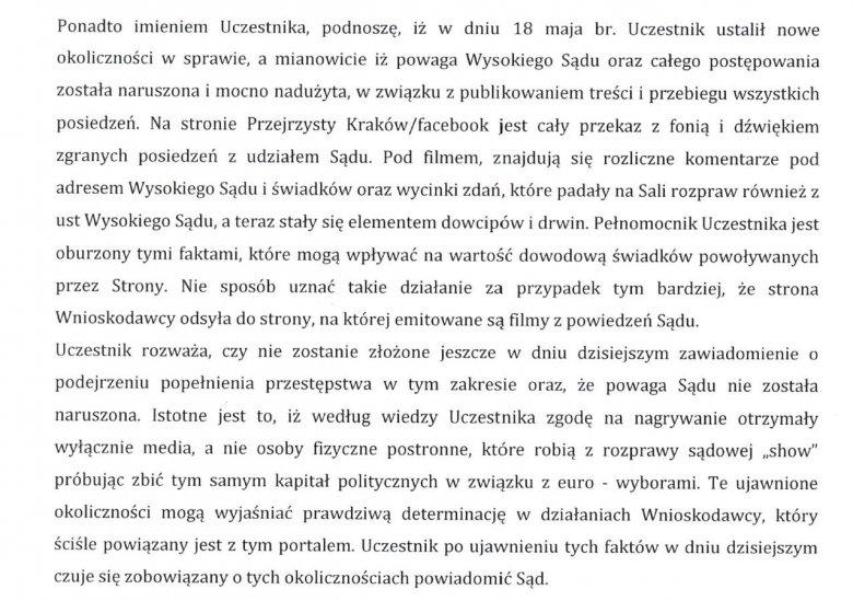 Gmina Kraków demaskuje administratorów profilu Przejrzysty Kraków. Jak widzimy, wolność słowa w Polsce nie bywa akceptowana.