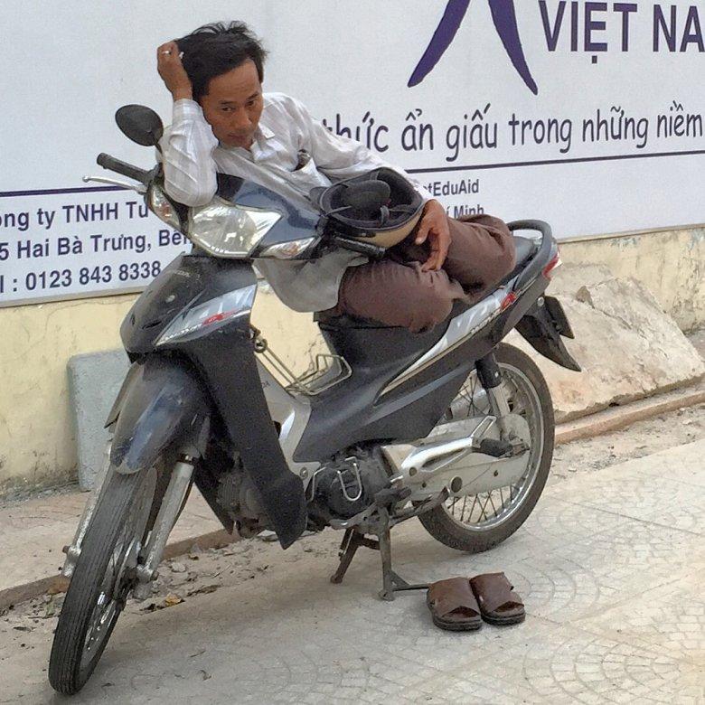 Bardzo częsty widok na ulicy w Sajgonie
