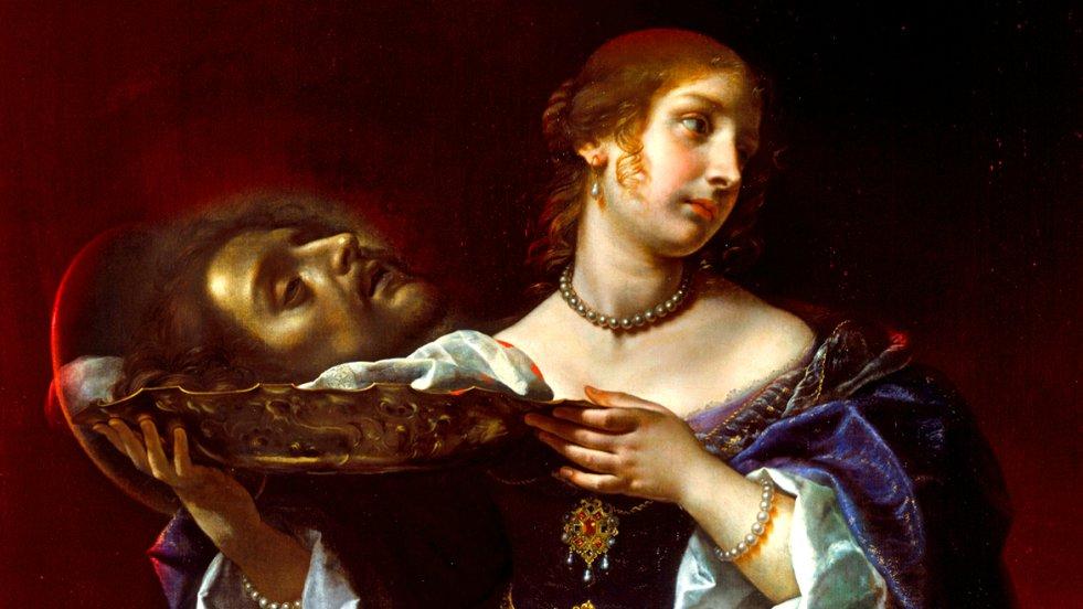 Salome z głową Jana Chrzciciela  – obraz Carla Dolciego (XVII)