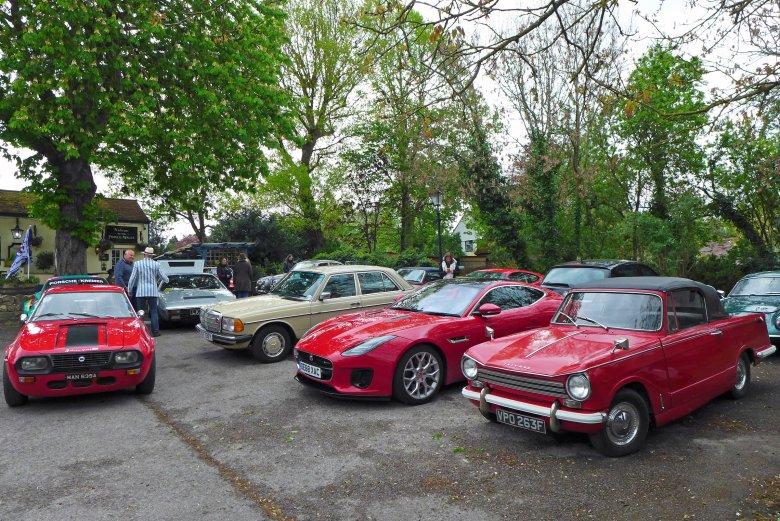 Testowany Jaguar wziął udział w dorocznym spotkaniu Iffley Motor Club w Oksfordzie.