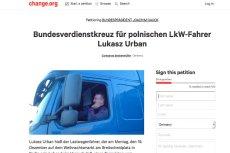 Petycja do prezydenta Niemiec (z godz. 7.21) o uhonorowanie polskiego kierowcy.