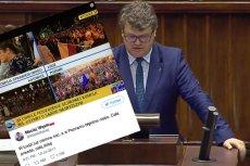 Maciej Wąsik PiS nie wierzył, że demonstracje pokazywane są na żywo. Bo w Poznaniu jest za jasno.
