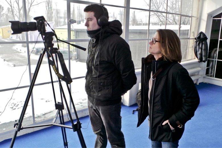 Monika Jaruzelska podczas nagrania programu