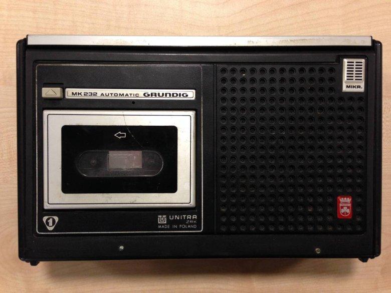 Magnetofon Grundig MK-232 - na takim modelu nagrywał Miron Białoszewski