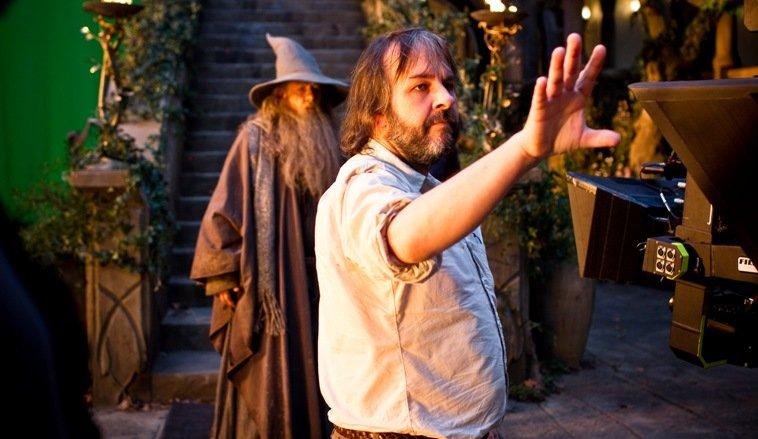 """Peter Jackson na planie """"Hobbita: Niezwykłej podróży""""."""
