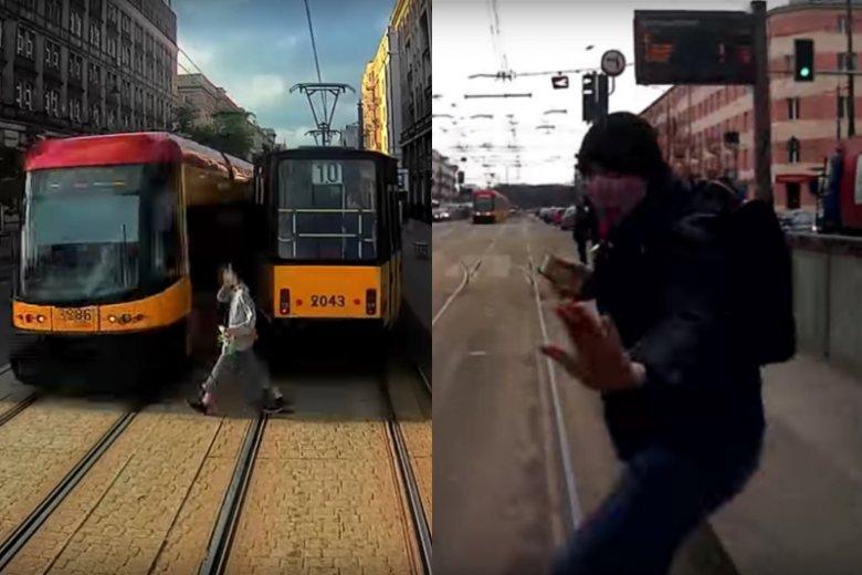 """""""Odłóż smartfon i żyj"""" to mocna kampania społeczna Tramwajów Warszawskich. Nowe spoty ukazują pieszych, którzy wpatrzeni w smartfony sami pchają się pod tramwaje"""