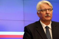Minister Waszczykowski bronił minister Zalewskiej w USA.