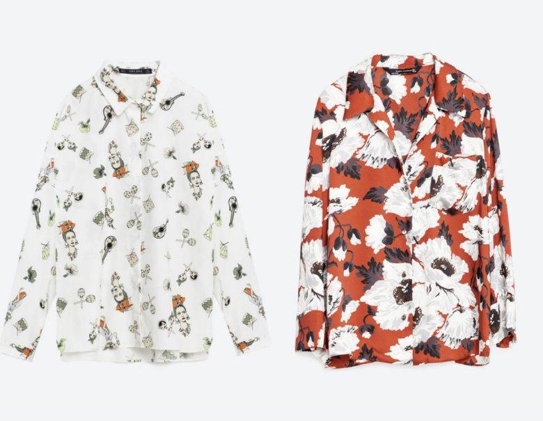 Koszula we wzory - Zara 119 zł, koszula w róże - 199 zł