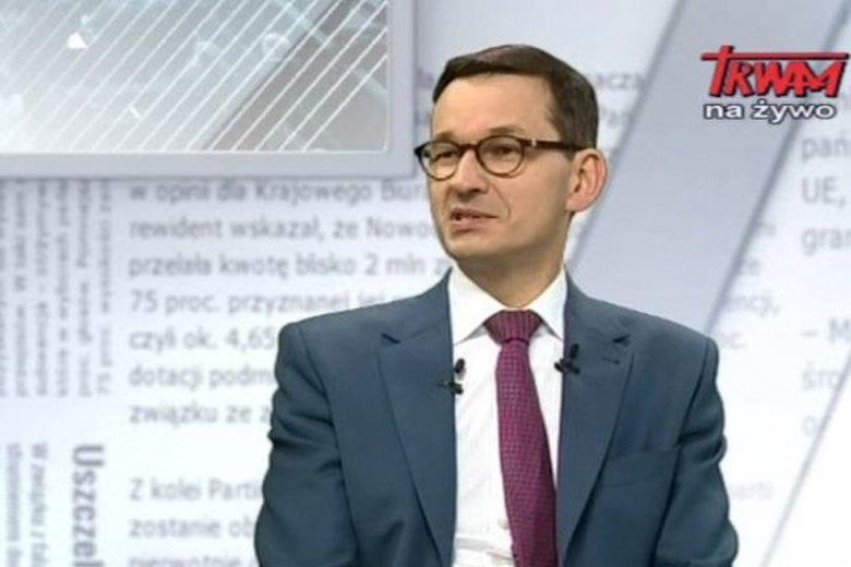 Mateusz Morawiecki w pierwszym wywiadzie po objęciu sterów rządu udobruchał wszystkich, których powinien. Z o. Tadeuszem Rydzykiem na czele.