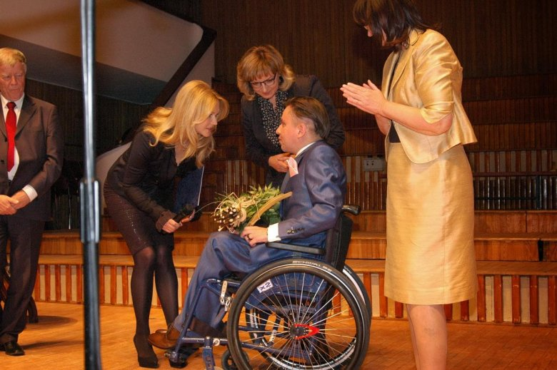 Podczas odbierania nagrody Rzecznika Praw Obywatelskich im. Pawła Włodkowica