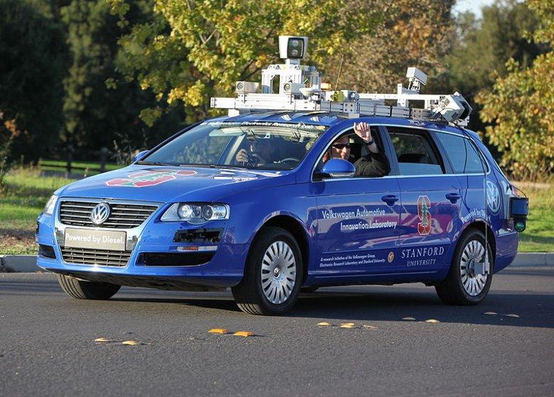 Testy autonomicznego samochodu VW.