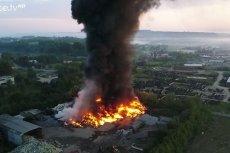 Pożar składowiska śmieci w Gorlicach