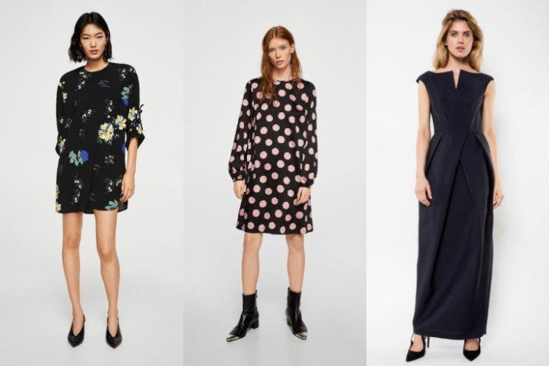 f14a876f19 Czarna krótka sukienka z kolorowym dodatkiem lub w barwny wzór nie powinna  nikomu przeszkadzać. Mango