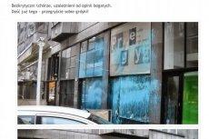 Anarchiści oblali farbą restaurację Piotra Najsztuba.