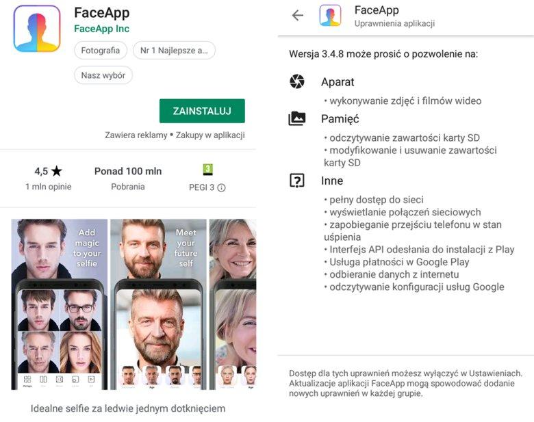 Instalując FaceApp, godzimy się na wiele rzeczy