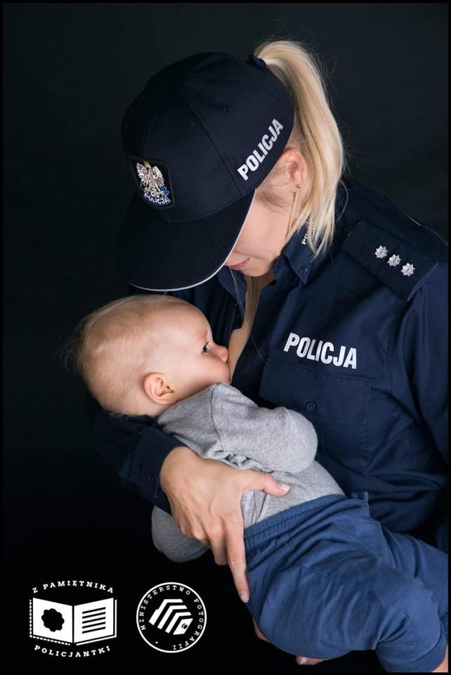 Łączenie służby w Policji z byciem matką to niełatwe zadanie.