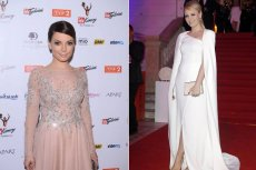 Sukienki Jastrzębskiej i Glinki, które stworzyła Viola Piekut, są łudząco podobne do zagranicznych projektów.
