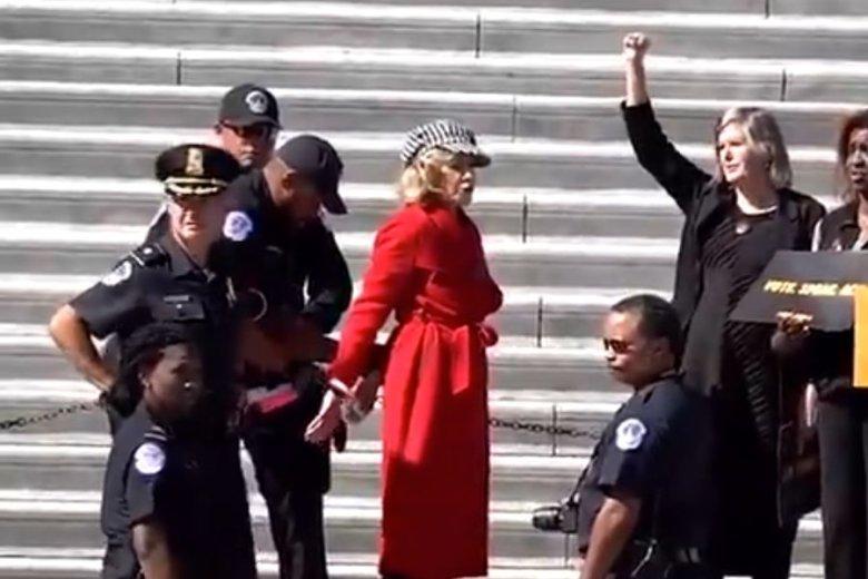 Jane Fonda została aresztowana podczas społecznego protestu w obronie klimatu