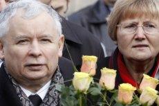 Barbara Skrzypek dostała wielki bukiet kwiatów od Jarosława Kaczyńskiego w Barbórkę.