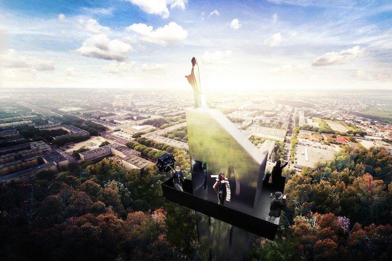 Taką wizualizację potencjalnej wieży zaproponowała pracownia TYNK TANK.