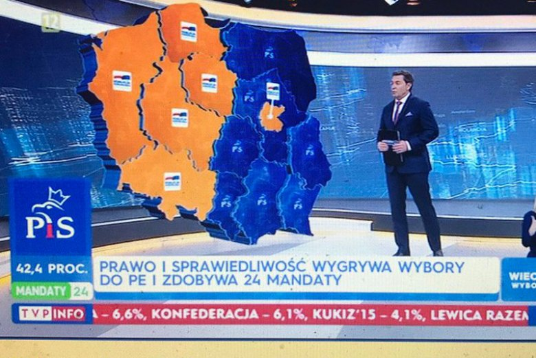 Podział Polski przy wyborach do Parlamentu Europejskiego 2019