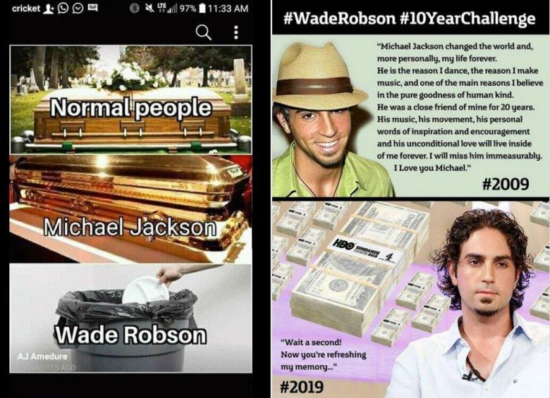 Wade Robson jest porównywany do śmiecia oraz sugeruje się, że oczernia Jacksona dla pieniędzy