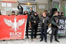 Protest przeciwko przyjęciu uchodźców do Białegostoku, 24.01.2016.