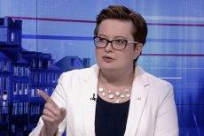 """Katarzyna Lubnauer w """"Gościu Wiadomości"""" nie była łatwą rozmówczynią dla Danuty Holeckiej."""