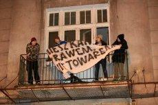 Podczas protestu lokatorów skłotu OdNowa doszło do przepychanek z policją. Demonstrujący zabarykadowali się w kilku pomieszczeniach.